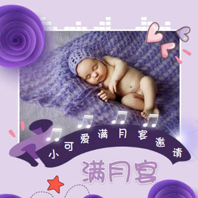 高端紫色满月宴